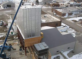 Construction of Hull Coop's new feed mill on schedule