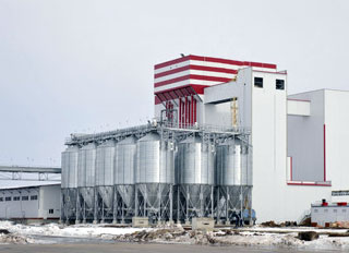 Governor visits new 60t/h Miratorg feed mill