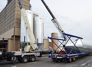 New bins installed at United Coop's Beaver Dam feed mill