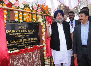 Cargill breaks ground at Bathinda, Punjab greenfield dairy feed mill