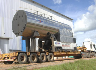 Acre feed mill nears completion with the delivery of boiler