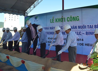 De Heus Vietnam starts the construction in Binh Dinh of its 6th Animal Feed factory