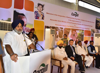 Cargill unveils feed plant for dairy industry in India